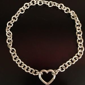 Tiffany & Co. Heart Clasp Necklace in Silver